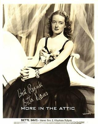 Bette Davis Original Vintage Warner Brothers Hollywood Portrait Still
