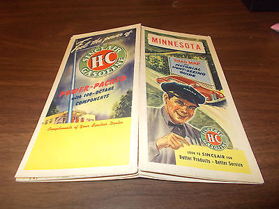 1947 Sinclair Minnesota Vintage Road Map