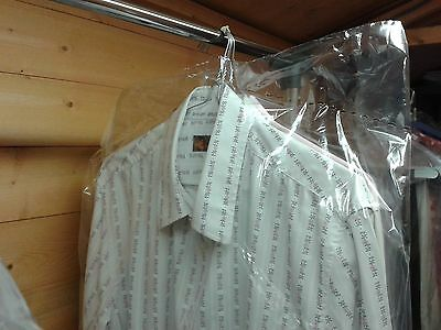 """5 x 72"""" LONG Clear Poly Clothes Covers Storage Bags. Wedding/Bridesmaids Dress"""