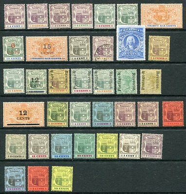 MAURITIUS 1895-1907 M&U COLLECTION 37 Stamps High cat