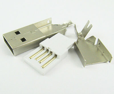 30pcs USB 4 Pin Plug Male Socket Connector, for PC Use