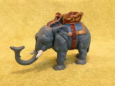 Vintage Cast Iron Elephant Bank Mechanical Trunk Tail Lever Collectible
