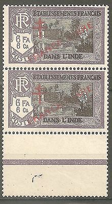 GRAND LIBAN MAURY 83g SURCHARGE RECTO-VERSO 2 TP** TTB