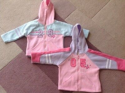 Lovely Girls Zip Up Hoodies. Size 3-6 Months