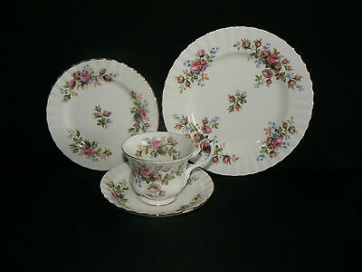 Royal Albert Cup Saucer Side Plate And Tea Plate - Moss Rose - Unused