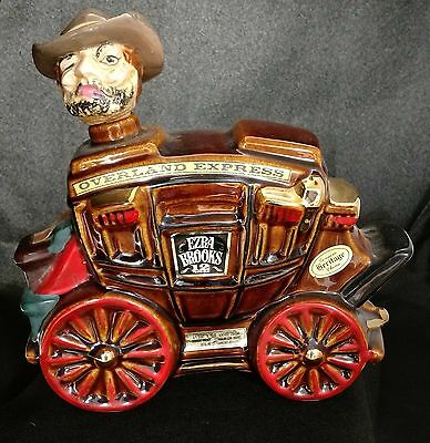 1969 Ezra Brooks Overland Express Kentucky Bourbon Whiskey Stagecoach Decanter