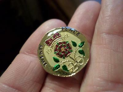 Lucky Charm Vintage Enamelled 20 Pence Coin 1982. Great Birthday Present