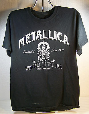 2005 METALLICA Whiskey in the Jar Black T-SHIRT size Medium