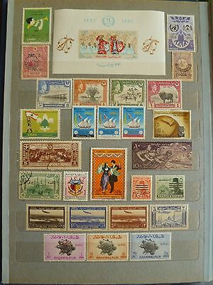Middle Eastern old stamp collection, including valuable S/Sheet, several sets.