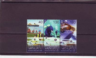 Vanuatu - Sg1166-1168 Mnh 2014 Submarine Cable System Linking With Fiji