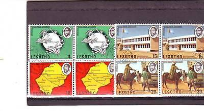 a121 - LESOTHO - SG265-268 FINE USED 1974 CENTENARY OF UPU - PAIRS