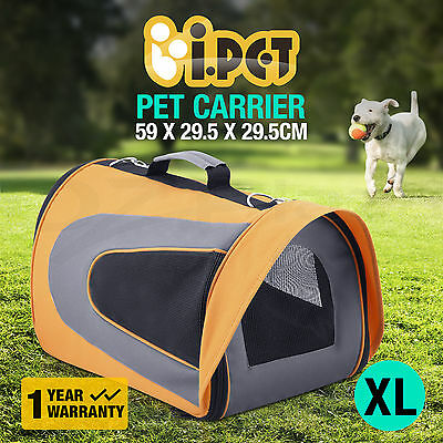 Pet Carrier Dog Cat Portable Soft Cage Folding Travel Bag Extra Large Crate OR