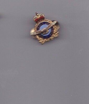 Old R.a.f., Royal Air Force,  Enamel And Metal Lapel Badge, By  William Scully