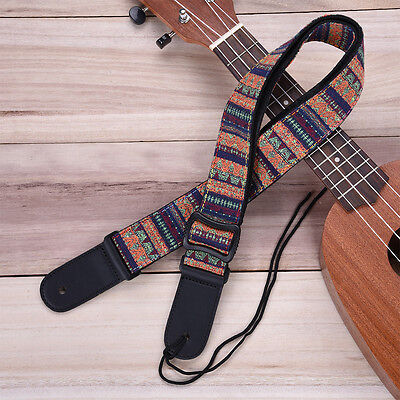 Electric Acoustic Guitar Bass Bohemian Style Adjustable Soft Cotton Strap New