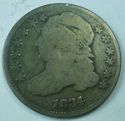 1834 United States Capped Bust Dime G Good Condition