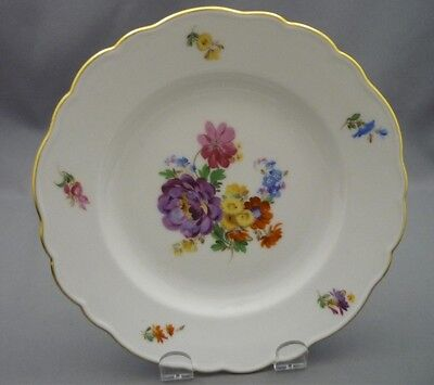 "Meissen Germany Porcelain Dresden Flowers 71/2"" 1000 Year Plate HAND PAINTED"