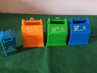Lot Of G Gauge Recycling Bins For Railway Display