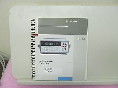 Agilent Hp 34401A Multimeter Service Guide, Schematics, Parts List, Layouts
