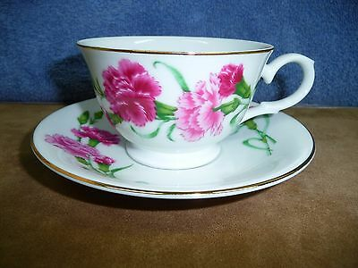 1991 Avon Blossoms Of The Month Cup And Saucer January Carnation