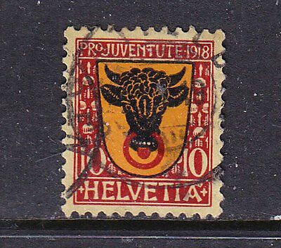 Switzerland postage stamp - 1918 PRO-JUVENTE 10c Used - collection odd
