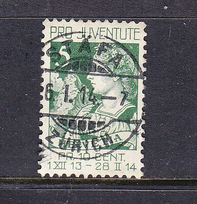 Switzerland postage stamp - 1913 PRO-JUVENTE 5c Used - collection odd