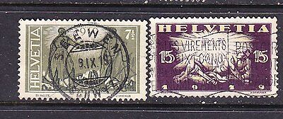 Switzerland postage stamps - 1919 2  Used 'Peace' - Collection odds