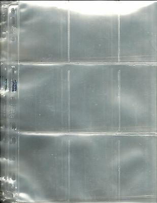 40 x ULTRA PRO 'Used' - 9 Pocket Pages - Trading Cards - Free Postage