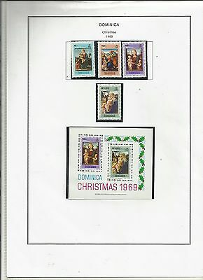 DOMINICA SG291/4 1969 CHRISTMAS .Mint & Used sets + M/s