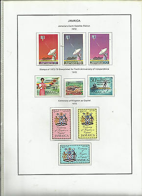 Jamaica .1972 Mint Sets on Album Page.