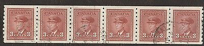 Stamp Canada # MR 4, 2¢, 1919, 1 coil strip of 100 used stamps.
