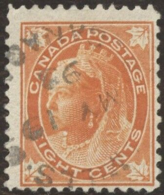 Stamp Canada # 72, 8¢, 1897, lot of 1 used stamp.