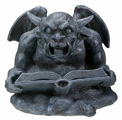 Gargoyle Reading a Book Medieval Statue Figurine Sculpture Statuette Decoration