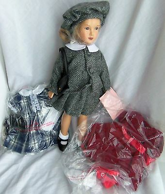 "Effanbee CINDY, MIB 14"" Reproduction Dewees Cochran Doll w/ 2 Extra Outfits 1998"