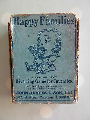Vintage Happy Families Card Game By John Jaques With Grotesque Characters