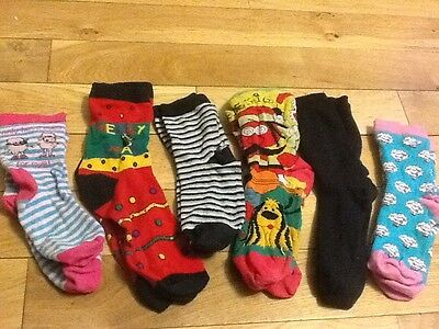 6 Pairs Used Assorted  Socks Size 5 - 6