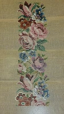 Unfinished Tapestry Needlepoint Floral Design Ivo Tapestries Vgc