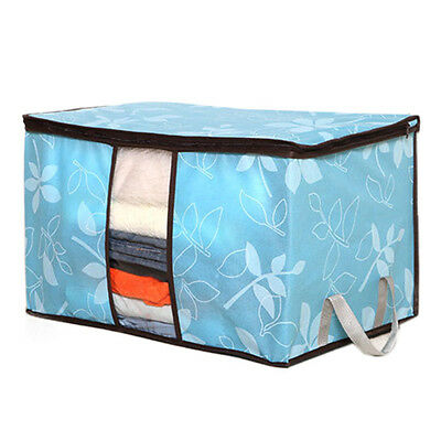 Fashion Storage Organization Flower Printed Quilt Collapsible Storage Bags