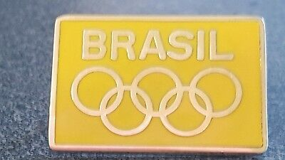 2016 Rio Olympic VINTAGE  BRASIL NOC DATED UNKNOWN  pin