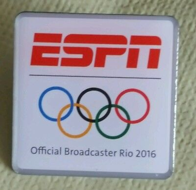 2016 Rio Olympic  ESPN OFFICIAL MEDIA  Broadcaster    pin