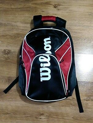 Wilson Tennis Backpack/Bag Black & Red VGC