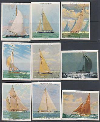 CIGARETTE CARDS Players 1938 Racing Yachts