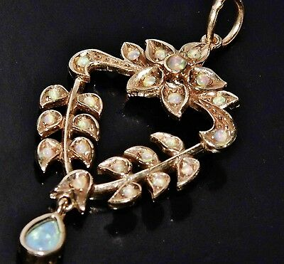 Victorian 9ct Yellow Gold Opal Lavalier Pendant