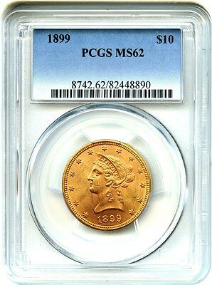 1899 $10 PCGS MS62 - Liberty Eagle - Gold Coin
