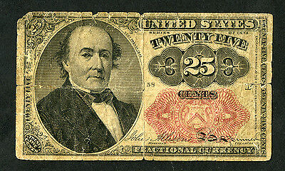 USA 25 Cents Series 1874 Fractional Currency Bob J. Walker