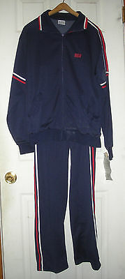Vintage 1980's USA Olympic Track Suit Large Polyester MacGregor with Tags