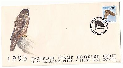 NEW ZEALAND 1993 NATIVE BIRDS 80c FALCON ON OFFICIAL FIRST DAY COVER