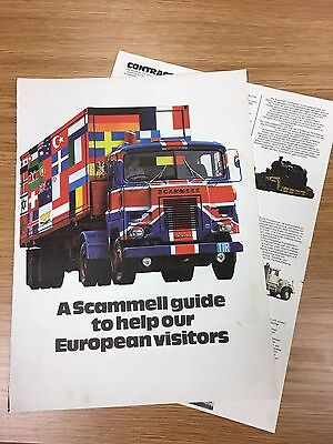 RARE 1972 SCAMMELL A4 Vintage Colour Truck Advert Brochure Germany