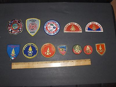 Mixed Lot 12 Fire & Rescue Fire Department Patches From Various Places Lot #7