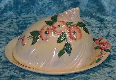 MALING Pearl Lustre Small Blossom CHEESE DISH & Cover #6584, 1930's