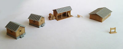 Outland Models Train Railway Layout Country Farm House Shed Cottage Set Z Gauge